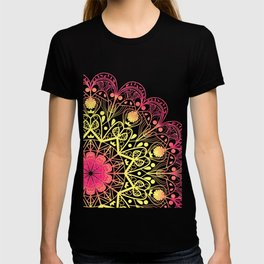 Mandala in Rose and Lemon T-shirt