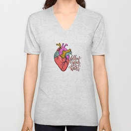 FOLLOW YOUR HEART - tatoo artwork Unisex V-Neck