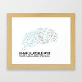 Kimberley Alpine Resort - BC, Canada - Minimalist Winter Trail Art Framed Art Print