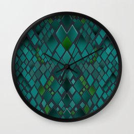 Digital graphics snake skin. Wall Clock