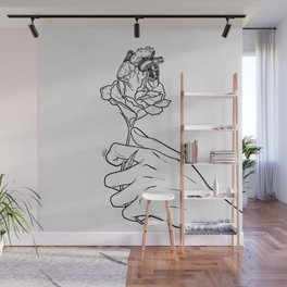 Flowery heart given. Wall Mural