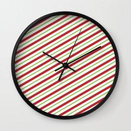 red stripes Wall Clock
