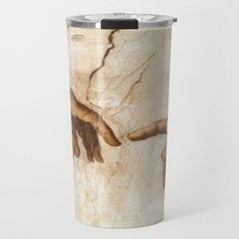 Michelangelo Creation of Adam Hands Travel Mug