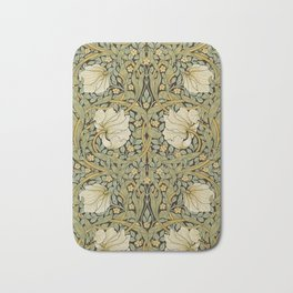 William Morris Pimpernel Art Nouveau Floral Pattern Bath Mat