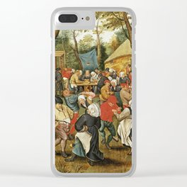 Pieter Bruegel I - The Wedding Feast. Clear iPhone Case