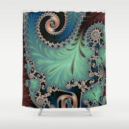 AZURE - Fractal Art Design  Shower Curtain