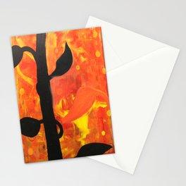 black plant Stationery Cards