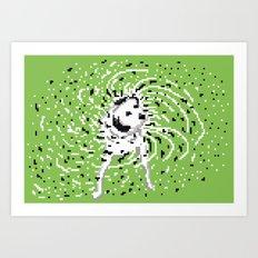 it was a dalmatian Art Print