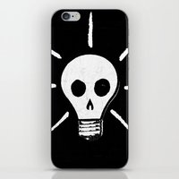bad idea iPhone & iPod Skins featuring Bad Idea by ScottLaserowPosters