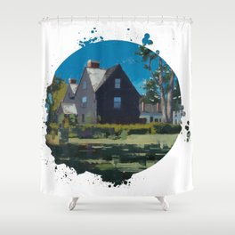 House of Seven Gables - Kevin Kusiolek Shower Curtain