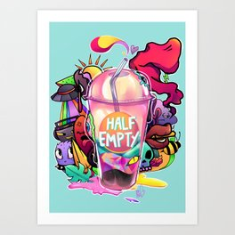 Half-Empty Art Print