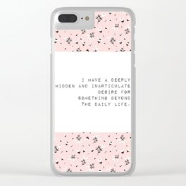 I have a deeply hidden desire - V. Woolf Collection Clear iPhone Case