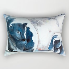Bears - Don't be afraid, I'll show you the way... by LiliFlore Rectangular Pillow