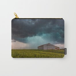 Rainy Day - Storm Passes Behind Barn in Southwest Oklahoma Carry-All Pouch