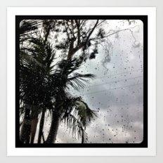 Rain. Art Print