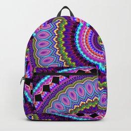 purple feathers Mandala Backpack