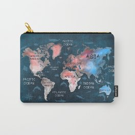 world map 45 Carry-All Pouch