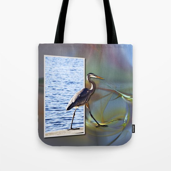Blue Heron Strutting Out Of Frame Tote Bag