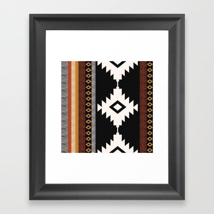 Pueblo in Sienna Gerahmter Kunstdruck
