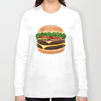 burger Long Sleeve T-shirts featuring Burger by Connor Driest