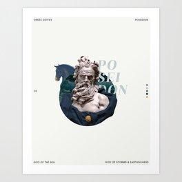 greek deities #2 - poseidon Art Print