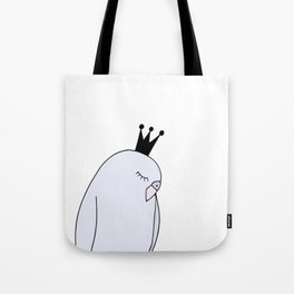 Blue budgie bird with crown Tote Bag