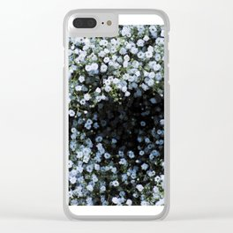 Snowflake Flowers Clear iPhone Case