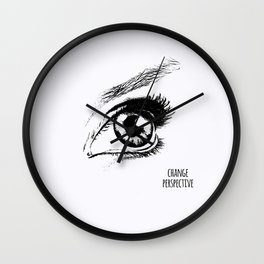 Eye Drawing Wall Clock