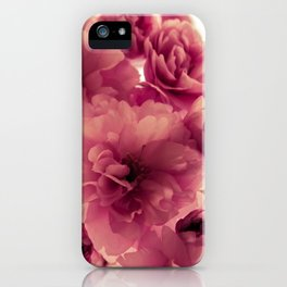 Pink Flowers - by Cheryl Gerhard iPhone Case
