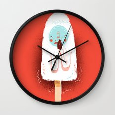 :::Delicious ice cream::: Wall Clock