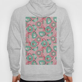 Abstract mauve pink green white sweet pattern Hoody