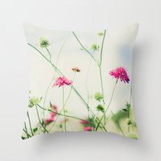 Dancing in the Meadow Throw Pillow