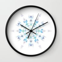 snowflake Wall Clocks featuring Snowflake by Lucien N.