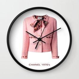 coco vintage pink suit jacke Wall Clock