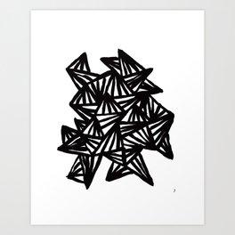 Big triangles Art Print