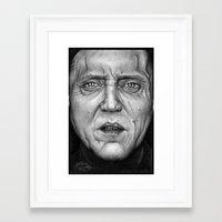 christopher walken Framed Art Prints featuring Christopher Walken by ColleenTrillow