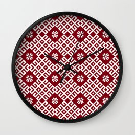 Latvian Pattern Wall Clock