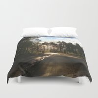 forrest Duvet Covers featuring My Forrest by Plutonian Oatmeal