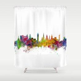 Glasgow Scotland Skyline Cityscape Shower Curtain
