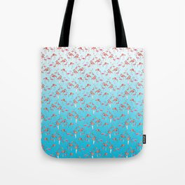 Flamengos in water Tote Bag