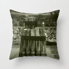 Sleep like a log Throw Pillow