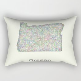 Oregon map Rectangular Pillow