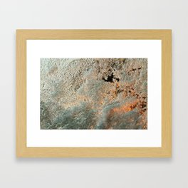 Frozen Snow Framed Art Print