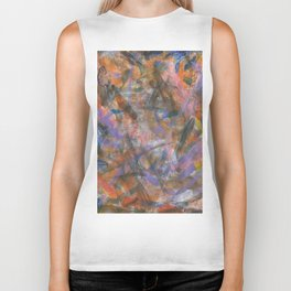 Dark Moods Brushstroke Abstract Biker Tank