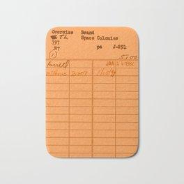 Library Card 797 Orange Bath Mat