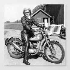 1952 Motorcycle Momma Canvas Print