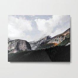 Head in the clouds - Lake Louise Metal Print