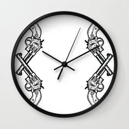 Cross Guns Wall Clock