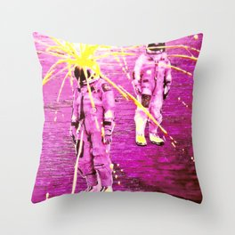 Last of the Spacemen Throw Pillow