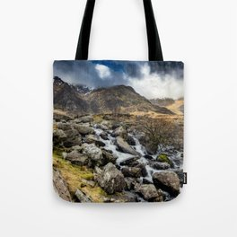 Glyderau Mountain Winter Tote Bag